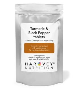 Turmeric & Black Pepper 1,400mg & 10mg - 120/240 Tablets