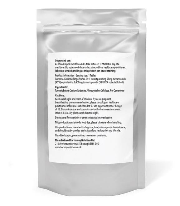 Turmeric 1,400mg - 120/240 Tablets