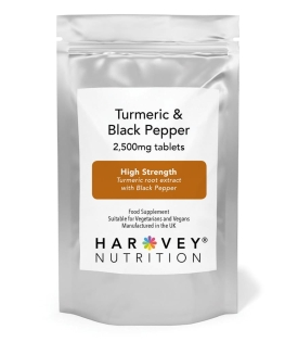 Turmeric & Black Pepper 2,500mg - 120/240 Tablets