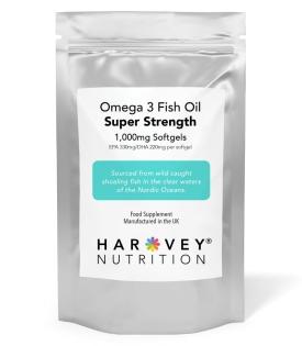 Omega 3 Fish Oil - 1000mg – 90/180 Softgels