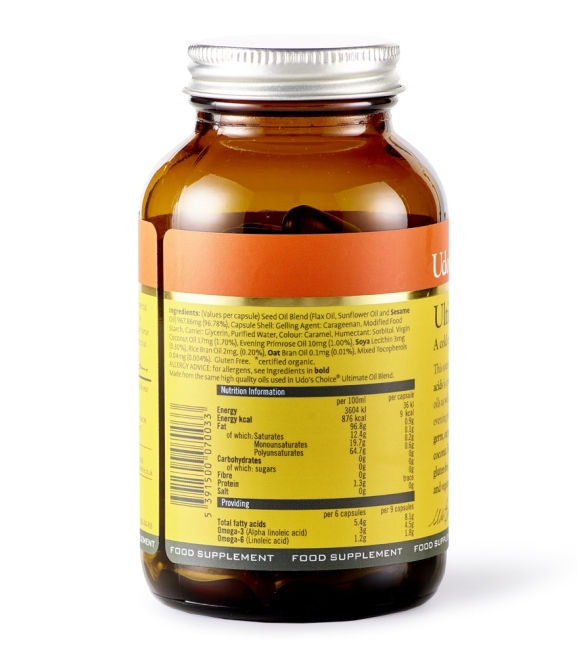 Udo's Choice Ultimate Oil Blend  - 90 Capsules